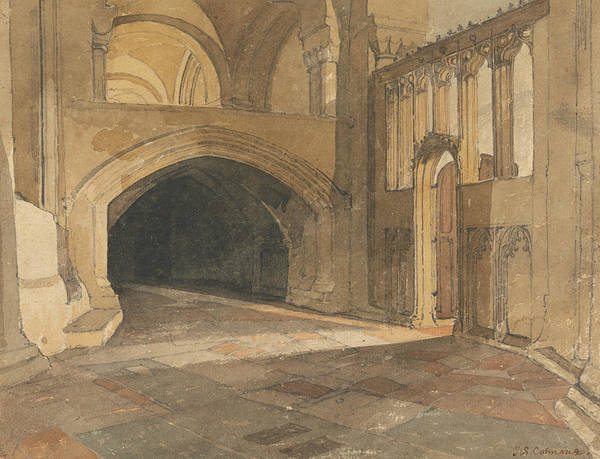 Painting - Norwich Cathedral - Entrance To Jesus Chapel by John Sell Cotman