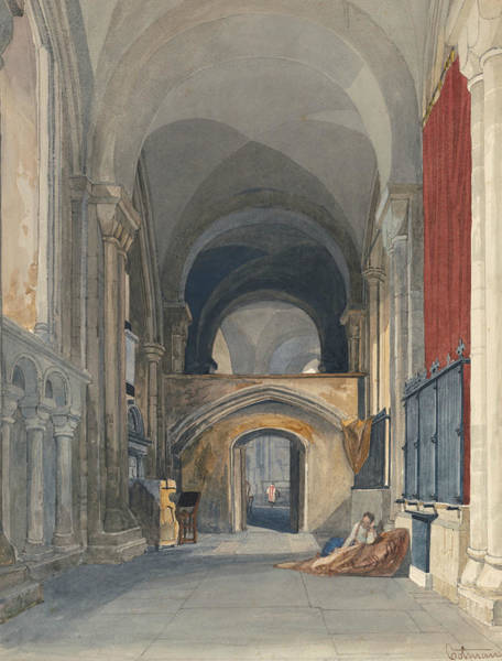 Painting - Norwich Cathedral - Interior Of The North Aisle Of The Choir, Looking East  by John Sell Cotman