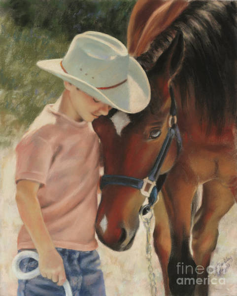 Horsemanship Painting - Nose 2 Nose by Dale Tremblay