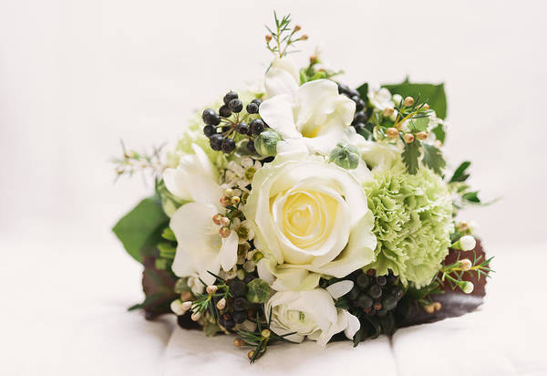 Photograph - Nosegay Bouquet With White Rose by Matthias Hauser
