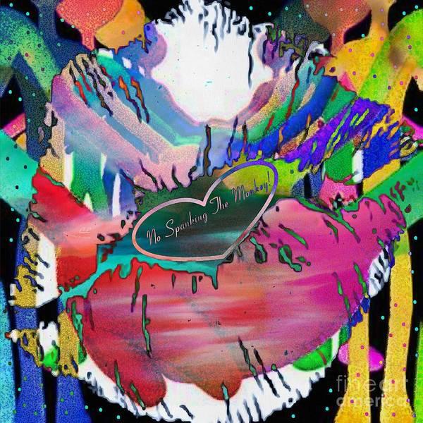 Painting - nospankingthemonkey SMACK by Catherine Lott