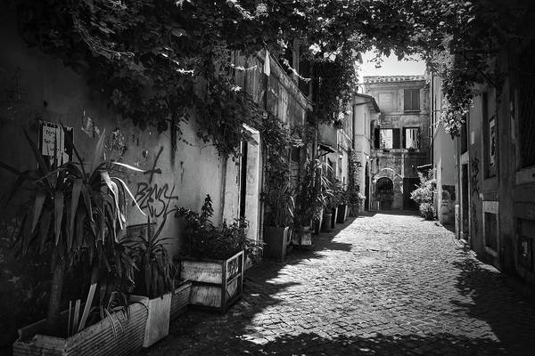 Photograph - Nostalgic Alley In Trastevere by Fine Art Photography Prints By Eduardo Accorinti
