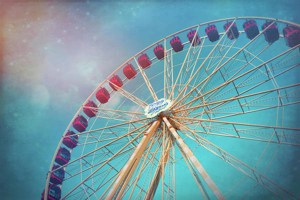 Fairground Photograph - Nostalgic Ferris Wheel Geneva Switzerland  by Carol Japp