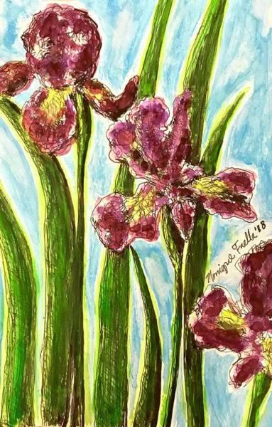 Nostalgic Irises Art Print