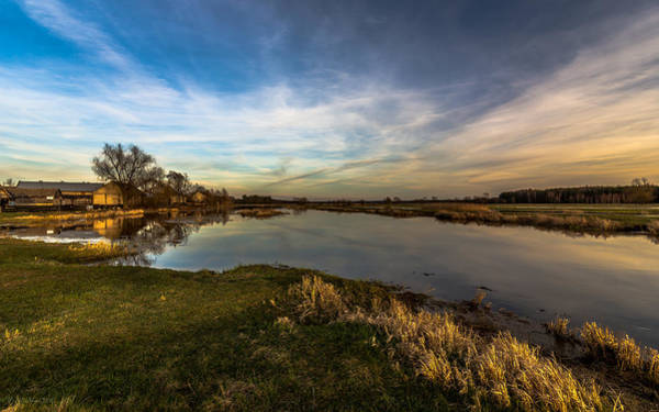 Photograph - Nostalgic Landscape With Narew River  by Julis Simo