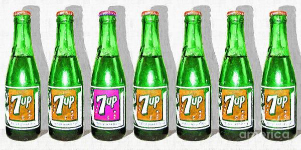 Photograph - Nostalgic Vintage Pop Art 7up Seven Bottles 20160220  by Wingsdomain Art and Photography