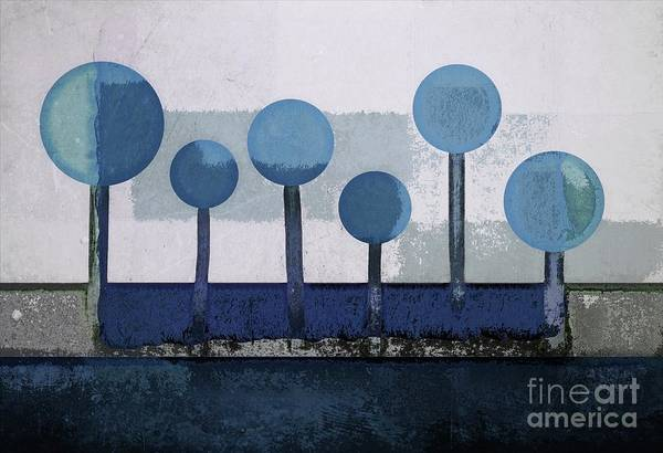 Wall Art - Digital Art - Not A Forest - 010203-bl by Variance Collections
