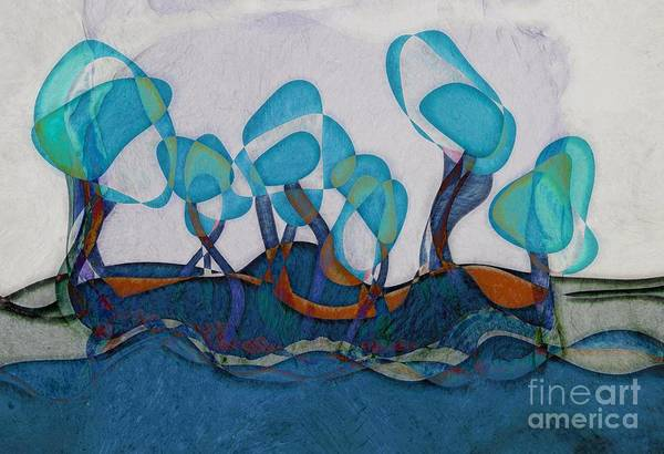Aqua Blue Digital Art - Not A Forest - Ab02c02 by Variance Collections