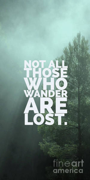 Photograph - Not All Those Who Wander Are Lost Phone Case by Edward Fielding