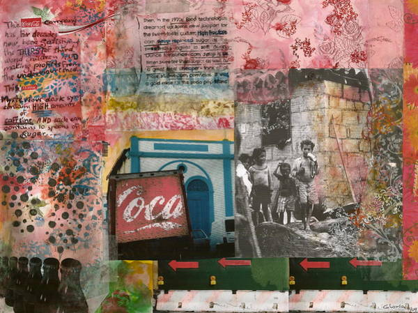 Coca Cola Painting - Not The Real Thing by Gloria Von Sperling