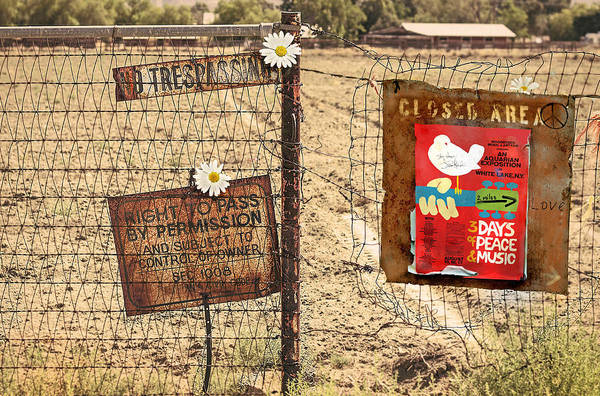 Peace Sign Mixed Media - Not Yasgur's Farm by Mal Bray