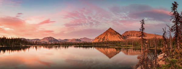 Uinta Photograph - Notch Lake Panorama by Johnny Adolphson