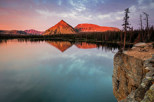 Uinta Photograph - Notch Lake Sunset by Johnny Adolphson