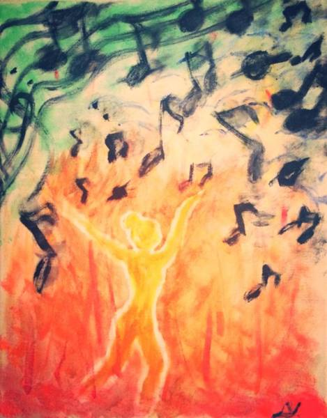 Wall Art - Painting - Notes On Fire by Lizzi Varga