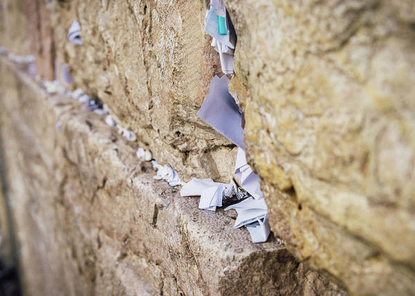 Photograph - Notes On The Wailing Wall, Jerusalem by Alexandre Rotenberg