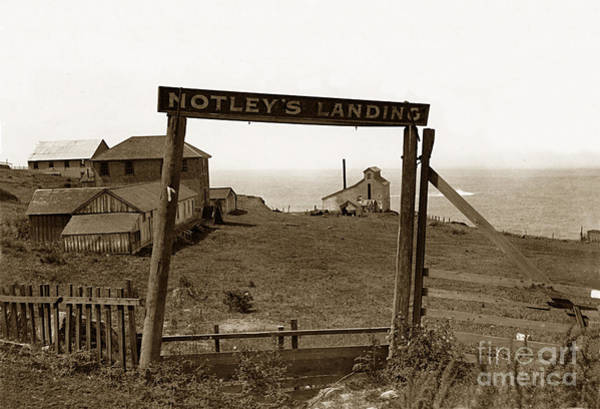 Photograph - Notleys Landing Big Sur Coast By L. S. Slevin  May 1919 by California Views Archives Mr Pat Hathaway Archives