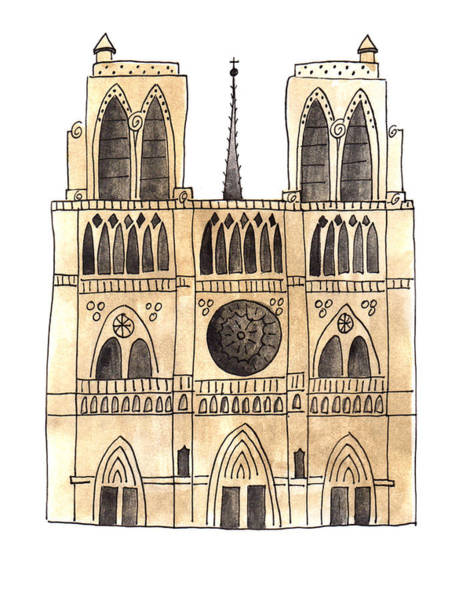 Painting - Notre Dame  by Anna Elkins