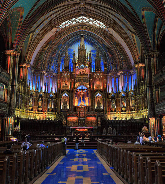 Photograph - Notre Dame Basilica Montreal City by Pierre Leclerc Photography