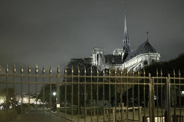 Photograph - Notre Dame Behind Bars by Jean Gill