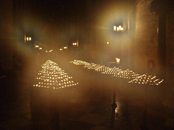Photograph - Notre Dame Candles by Mark Currier