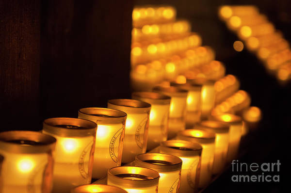 Photograph - Notre Dame Candles by Paul Warburton