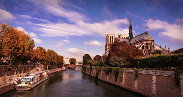 Photograph - Notre Dame Cathedral And The River Seine - Paris by Barry O Carroll