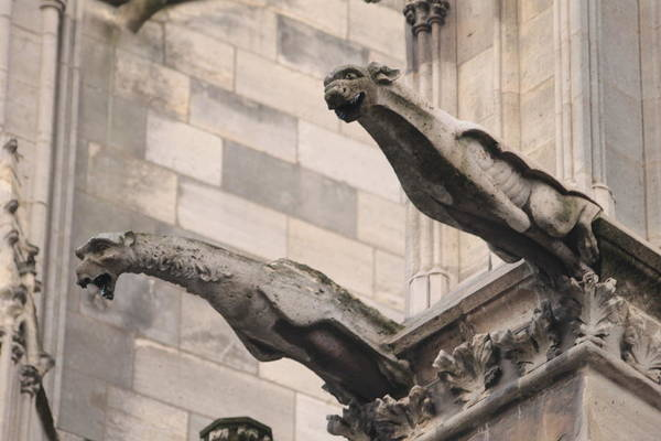 Photograph - Notre Dame Cathedral Gargoyles by Christopher Kirby