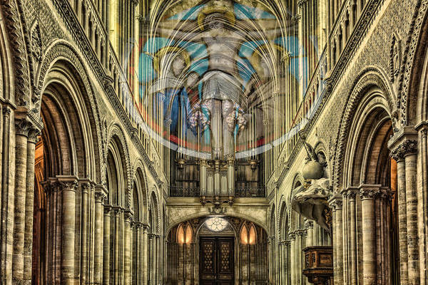 Digital Art - Notre Dame Cathedral - Vision Of Jesus by Ericamaxine Price