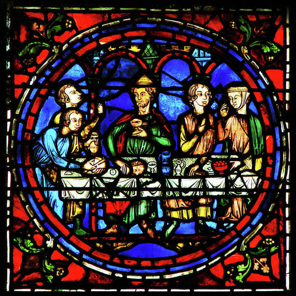Glass Art -  Notre Dame De La Belle Verriere by Photographer Vassil