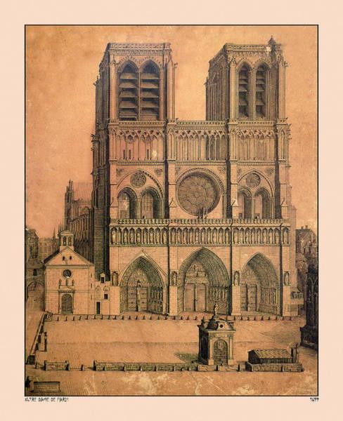 Photograph - Notre Dame De Paris 1699 by Andrew Fare