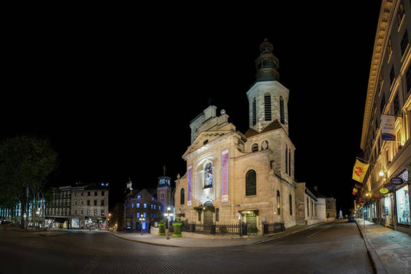 Photograph - Notre-dame De Quebec Basilica-cathedral At Night by Chris Bordeleau