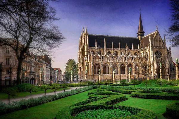 Belgian Photograph - Notre Dame Du Sablon In Brussels  by Carol Japp