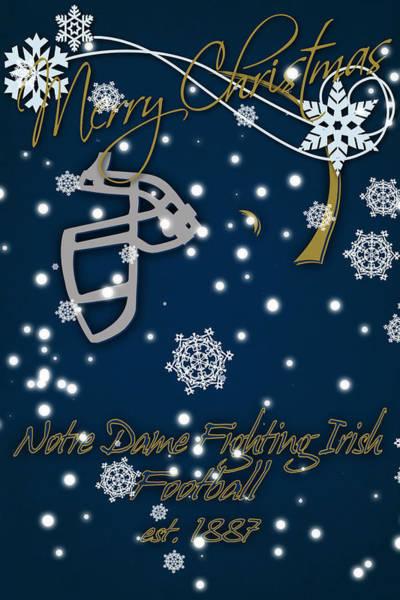 Notre Dame Photograph - Notre Dame Fighting Irish Christmas Card by Joe Hamilton