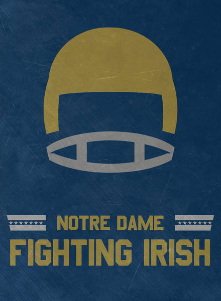 Notre Dame Fighting Irish Vintage Football Art Art Print