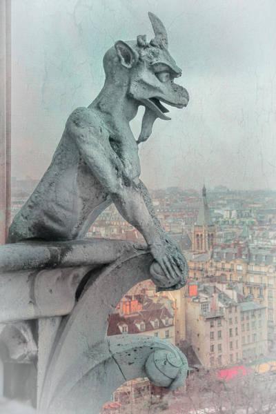 Photograph - Notre Dame Gargoyle by Joan Carroll