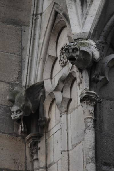 Photograph - Notre Dame Grotesques by Christopher Kirby