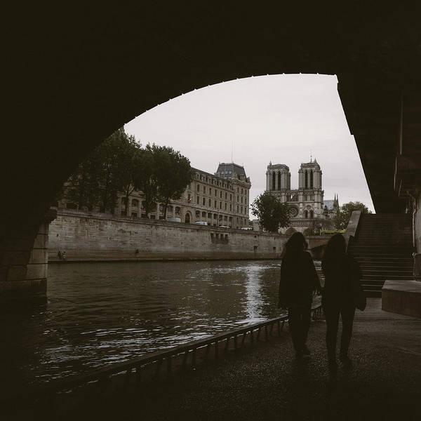 Photograph - Notre Dame Paris And River Seine by Alexandre Rotenberg