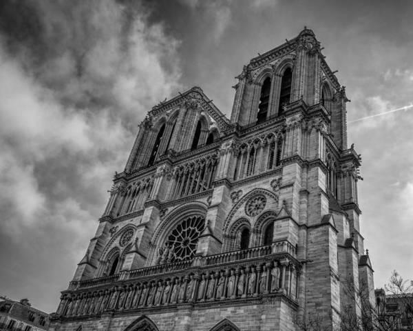 Photograph - Notre Dame Paris Bw by Joan Carroll