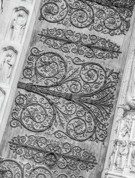 Photograph - Notre Dame Paris Door by Helen Northcott