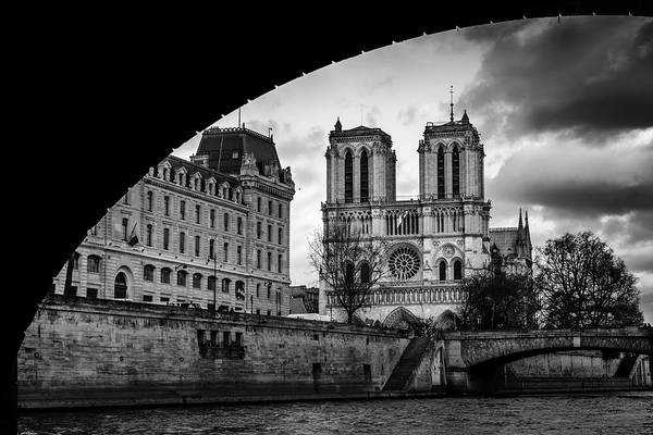 Photograph - Notre Dame, Paris With Arch by Alexandre Rotenberg