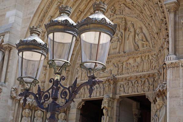 Photograph - Notre Dame Street Lights Paris France by Toby McGuire