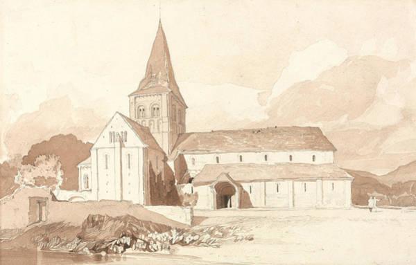 Drawing - Notre Dame Sur L'eau, Domfront, Normandy by John Sell Cotman