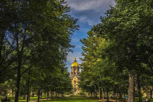 Photograph - Notre Dame University 2 by David Haskett II