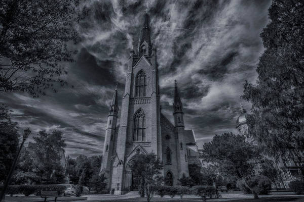 Photograph - Notre Dame University Church by David Haskett II