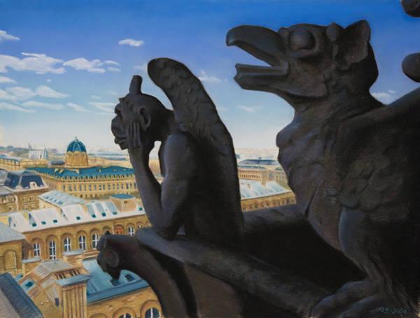 Notre Dame View Art Print