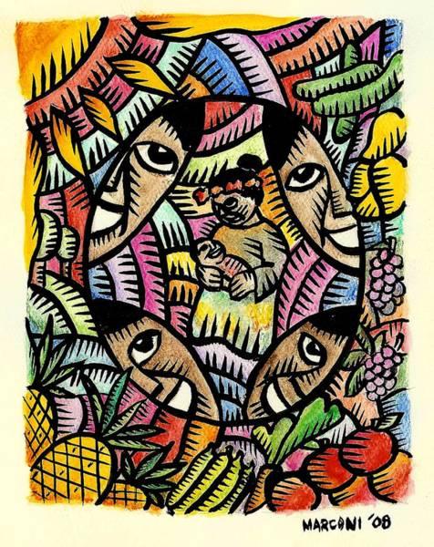 Painting - Nourishing The Island Children by Marconi Calindas