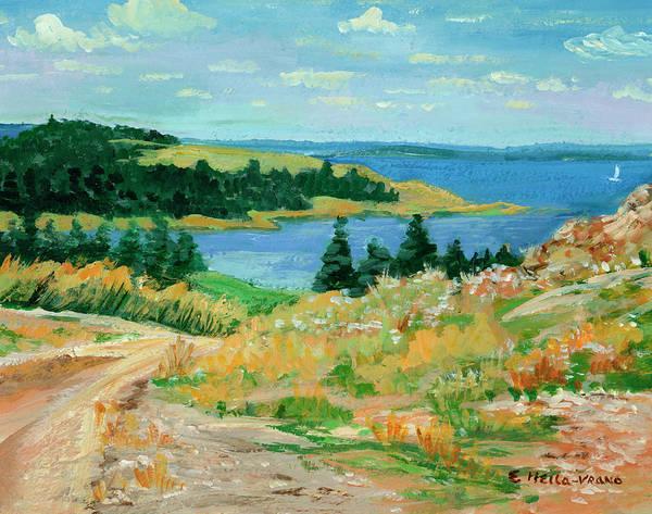 Nova Scotia Painting - Nova Scotia Coast by Ethel Vrana