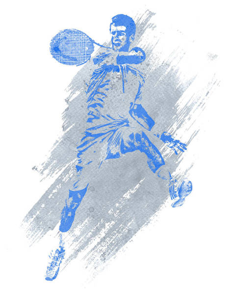 Championship Mixed Media - Novak Djokovic Tennis Water Color Art 1 by Joe Hamilton