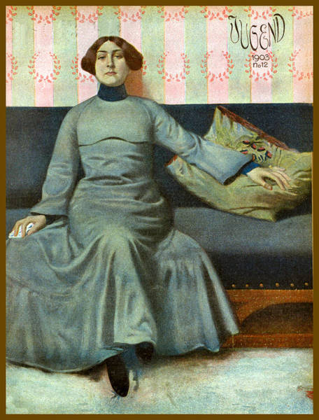 Painting - November 12 1903 Jugend Magazine Cover by Jugend Magazine Cover