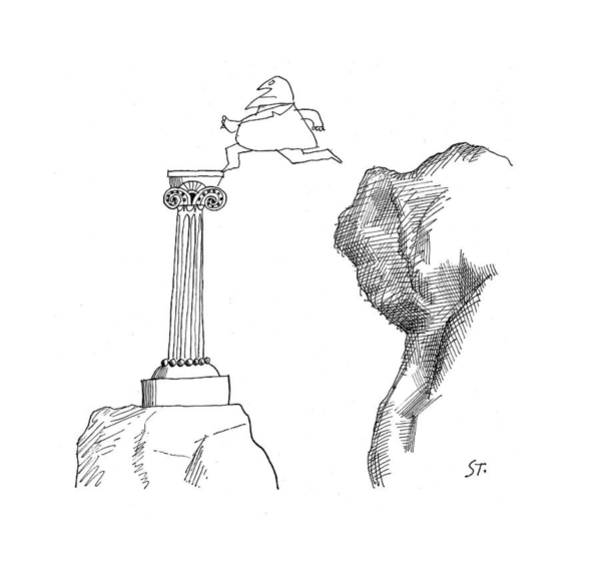 Monument Drawing - November 18th 1961 by Saul Steinberg